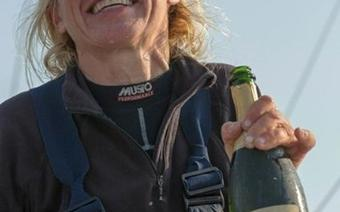 Kpt. Joanna Pajkowska po zakończeniu OSTAR 2013