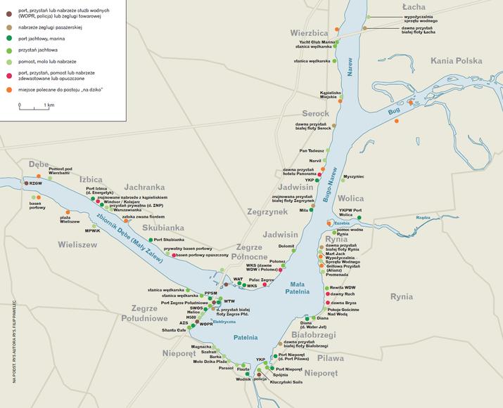 Porty i przystanie Jeziora Zegrzyńskiego