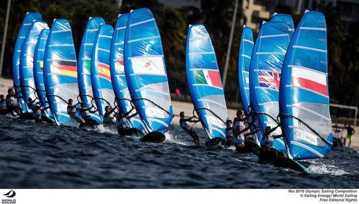 Rio 2016 klasa RSX Men w akcji